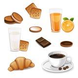 Morgonfrukost med kaffe Arkivfoto