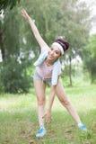 Morgongymnastik Royaltyfria Foton