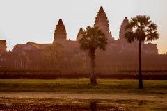 Morgonhärlighet - Angkor Wat soluppgång Fotografering för Bildbyråer