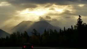 Morgonhimmel Alaska Arkivbilder