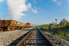 morgonjärnväg Arkivbild