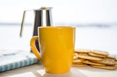 Morgonkaffe royaltyfri fotografi