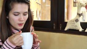 Morgonkaffe stock video