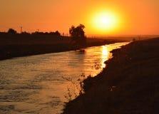 Morgonlandskap av soluppgång Royaltyfria Foton
