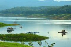 Morgonliv på vattnet Fotografering för Bildbyråer