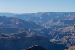 Morgonljus på Grand Canyon, Arizona, USA royaltyfria foton