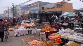 Morgonmarknad i Nanyang Kina Royaltyfri Bild