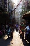 Morgonmarknad på gatan Arkivbild