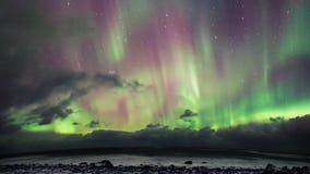 Morgonrodnad över Lofoten, Norge Arkivfoton
