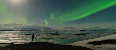 Morgonrodnad i Island arkivbild