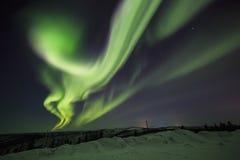 Morgonrodnad natt på alaska, fairbanks royaltyfri bild