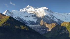 Morgonsikt av Annapurna royaltyfria bilder