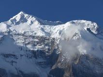 Morgonsikt av Annapurna royaltyfri fotografi