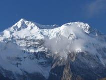 Morgonsikt av Annapurna fotografering för bildbyråer
