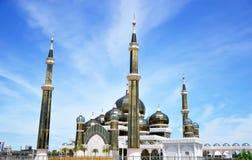 Morgonsikt av den crystal moskén Arkivfoton