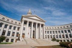 Morgonsikt av Denver City Council arkivbild