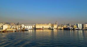 Morgonsikt av hamnen av Naples Royaltyfri Bild