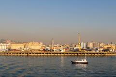 Morgonsikt av hamnen av Naples Royaltyfria Foton