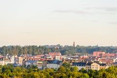 Morgonsikt av Northampton Town cityscape Upton England, UK Arkivbilder