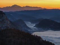 Morgonsikt från Komna Arkivfoton