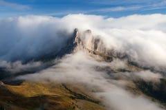 Morgonsikt från sänkan di Lana till Pico Setsas Fotografering för Bildbyråer