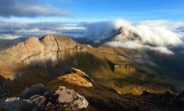Morgonsikt från sänkan di Lana till Pico Setsas Arkivbild