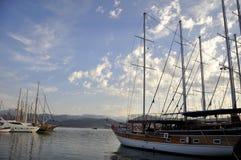Morgonsikten av Fethiye i Turkiet Arkivbild
