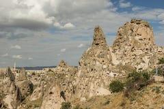 Morgonskymning i felika lampglas av den Goreme dalen Cappadocia Royaltyfria Bilder