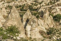 Morgonskymning i felika lampglas av den Goreme dalen Cappadocia Royaltyfri Bild