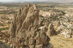 Morgonskymning i felika lampglas av den Goreme dalen Cappadocia Royaltyfria Foton