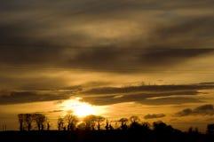 morgonsoluppgång Fotografering för Bildbyråer