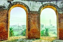 Morgonsoluppgång Lucknow arkivbild