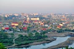 Morgonstadslandskap Arkivfoton