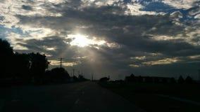 Morgonstrålar Arkivbilder