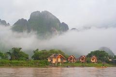Morgontid i Laos Arkivfoton