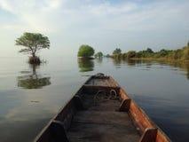 morgontid i Songkhla sjön Royaltyfri Foto