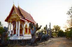 Morgontid på Wat Pho Sri Sa-på Arkivfoton
