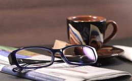 Morgontidning Royaltyfria Bilder