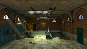 Morgue. 3D CG rendering of the morgue Stock Photos