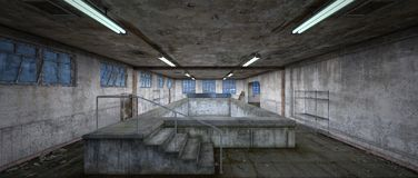 Morgue. 3D CG rendering of the morgue Royalty Free Stock Image