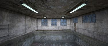 Morgue. 3D CG rendering of the morgue Royalty Free Stock Photo
