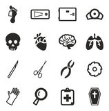 Morgue Icons Royalty Free Stock Photography