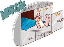 Morgue. A vector illustration of morgue Stock Image