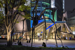 六本木新城Mori塔入口在东京,日本 免版税图库摄影