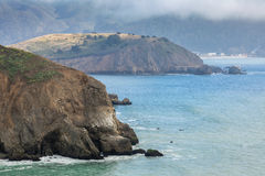 Mori Point in Fog. Taken in Pacifica, San Mateo County, California, USA Royalty Free Stock Images