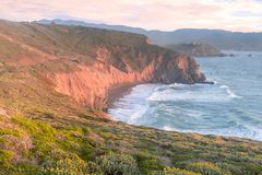 Mori Point Spring Sunset Photo stock