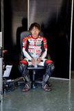 Mori Syunya pilot of 125cc  of the CEV Royalty Free Stock Photo