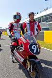 Mori Syunya pilot of 125cc  of the CEV Championship Stock Image
