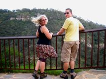 Morialta Falls Couple Stock Image