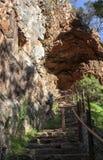 Morialta, sur de Australia, cueva Foto de archivo libre de regalías